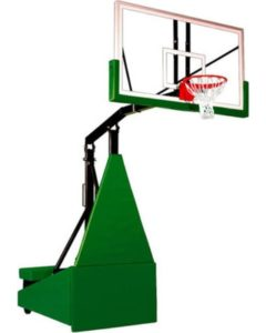 First Team Storm Arena Portable Basketball System - 72 Inch Glass Backboard